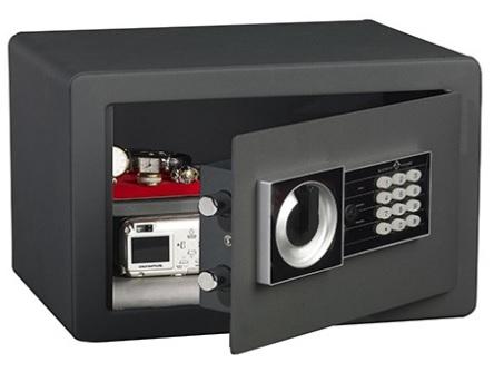 coffre-fort-noir-serrure-electronique