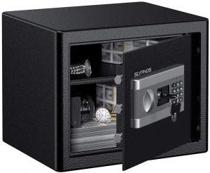 coffre-fort SLYPNOS de couleur noire avec clavier numérique
